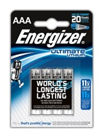ENERGIZER ULTIMATE LITHIUM lithiové baterie L92/FR03 Mikrotužka AAA BL4
