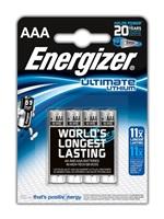 ENERGIZER ULTIMATE LITHIUM lithiové baterie L92/FR03 Mikrotužka AAA BL4