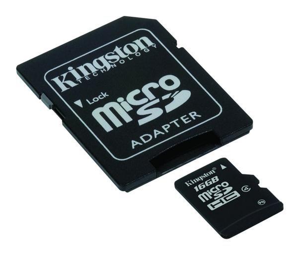 Kingston 16GB Micro SecureDigital (SDHC) Card, Class 4