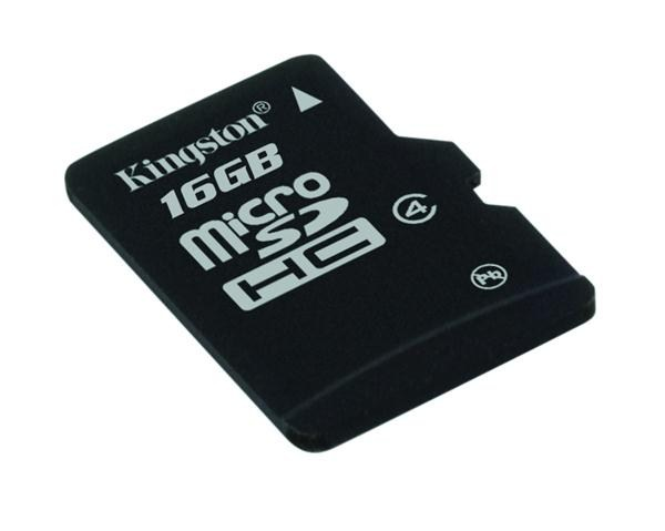 Kingston 16GB Micro SecureDigital (SDHC) Card, Class 4