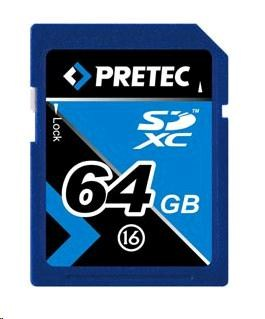 PRETEC Secure Digital SDXC class 16 ( 33MB/s, 21MB/s ) - 64GB