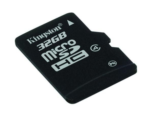 Kingston 32GB Micro SecureDigital (SDHC) Card, Class 4 - pouze karta