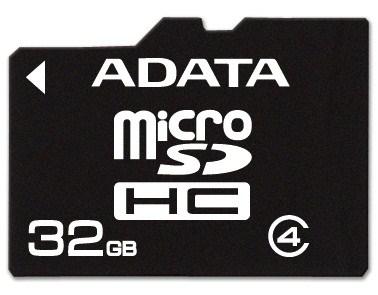 ADATA Micro SDHC karta 32GB Class 4