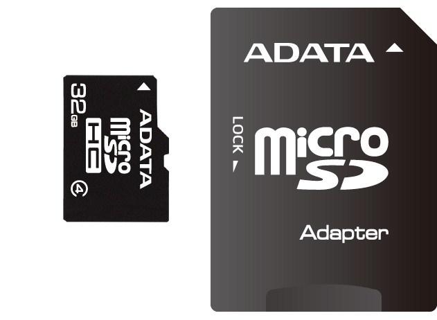 ADATA Micro SDHC karta 32GB Class 4 + SD