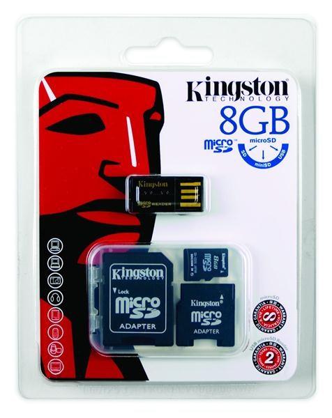 Kingston 8GB Multi Kit / Mobility Kit - MicroSDHC 8GB + čtečka + adaptér