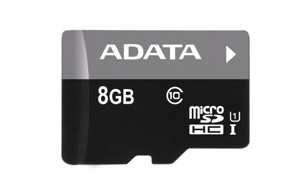 ADATA Micro SDHC karta 8GB UHS-I Class 10, Premier