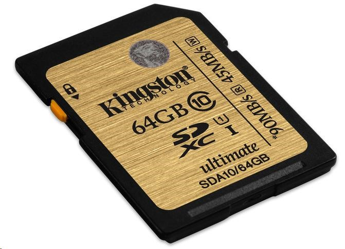 Kingston 64GB SecureDigital (SDXC) UHS-I Ultimate Memory Card (Class 10)