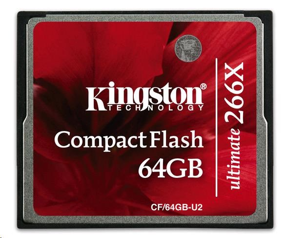 Kingston 64GB Ultimate CompactFlash Card 266x (+Recovery SW)