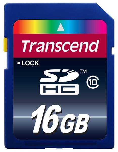 TRANSCEND SDHC Class 10 16GB (Premium)