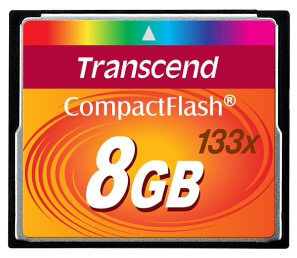 TRANSCEND Compact Flash Card (133x) 8GB