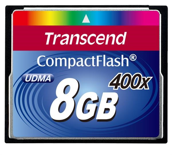 TRANSCEND Compact Flash Card (400x) 8GB (Premium)