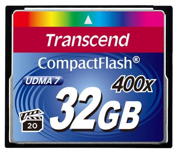 TRANSCEND Compact Flash Card (400x) 32GB (Premium)