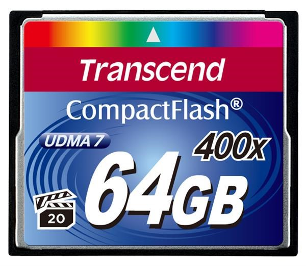 TRANSCEND Compact Flash Card (400x) 64GB (Premium)