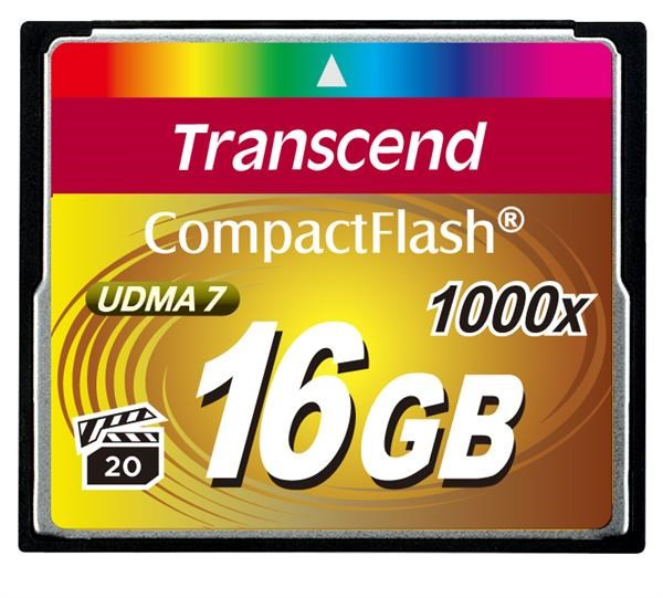 TRANSCEND Compact Flash Card (1000x) 16GB (Ultimate)