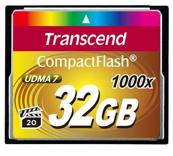 TRANSCEND Compact Flash Card (1000x) 32GB (Ultimate)