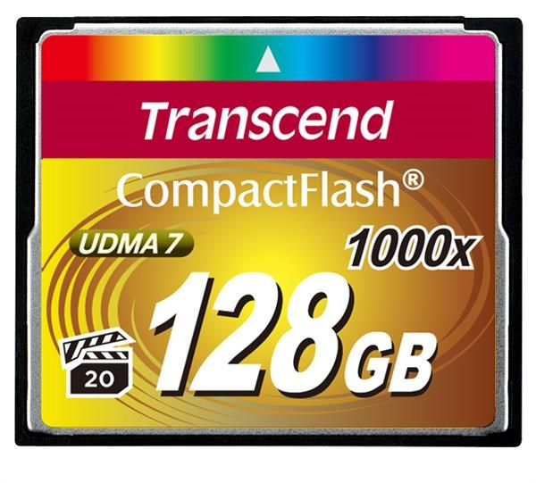 TRANSCEND Compact Flash Card (1000x) 128GB (Ultimate)
