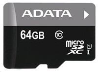 ADATA Micro SDXC karta 64GB UHS-I Class 10 + SD adaptér Premier