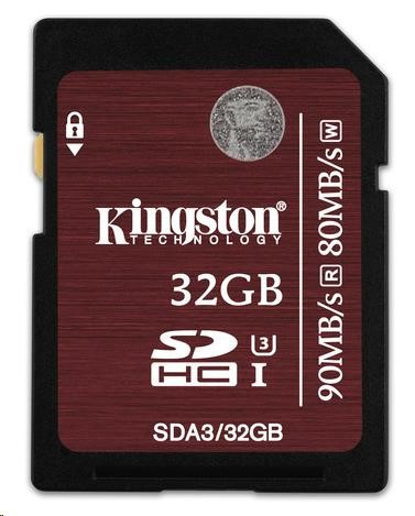 Kingston 32GB SecureDigital (SDHC) UHS-I Memory Card (Class 3)