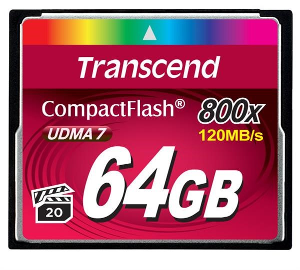 TRANSCEND Compact Flash Card (800x) 64GB (Premium)