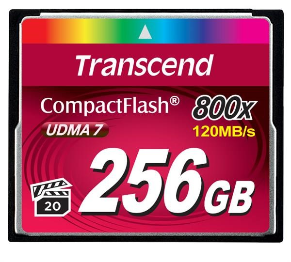TRANSCEND Compact Flash Card (800x) 258GB (Premium)