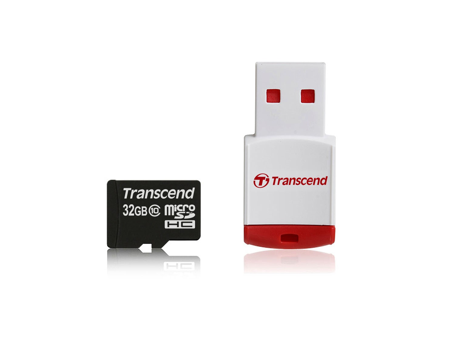 TRANSCEND Micro SDHC Class 10 32GB + Card Reader