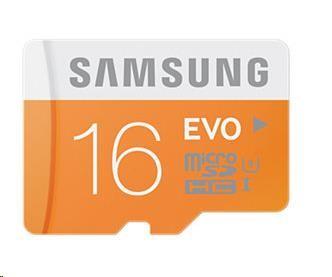 Samsung Micro SDHC karta 16GB Class 10 Plus + SD adaptér