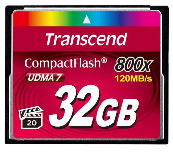 TRANSCEND Compact Flash Card (800x) 32GB (Premium)