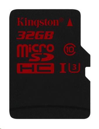 Kingston 32GB Micro SecureDigital (SDHC UHS-I) Card, Class 3, bez adaptéru
