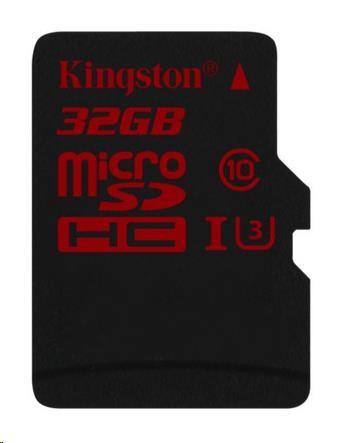 Kingston 32GB Micro SecureDigital (SDHC UHS-I) Card, Class 3, bez adaptéru
