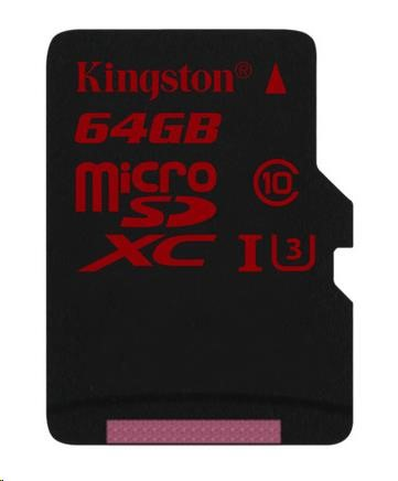 Kingston 64GB Micro SecureDigital (SDHC UHS-I) Card, Class 3, bez adaptéru