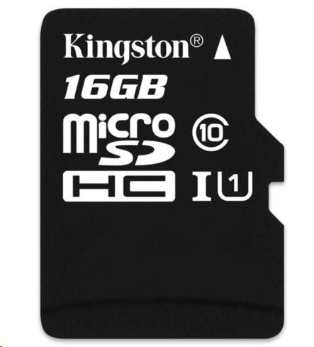 Kingston 16GB Micro SecureDigital (SDHC) Card, Class 10 UHS-I