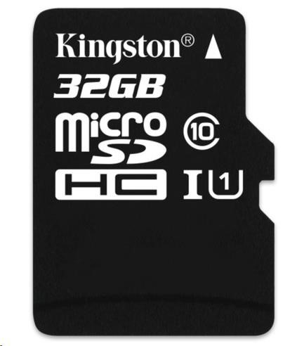 Kingston 32GB Micro SecureDigital (SDHC) Card, Class 10 UHS-I