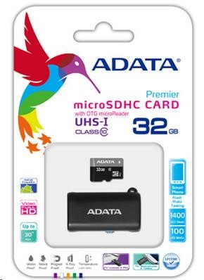 ADATA Micro SDHC karta 32GB UHS-I Class 10 + OTG