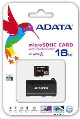 ADATA Micro SDHC karta 16GB Class 4