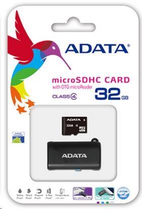 ADATA Micro SDHC karta 32GB Class 4 + OTG