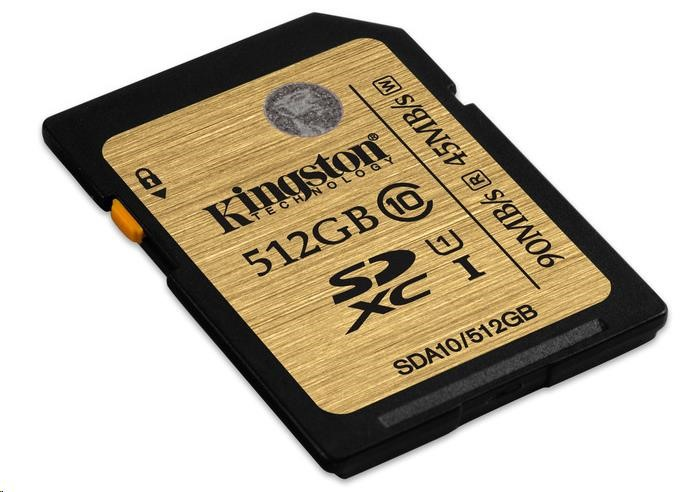 Kingston 512GB SecureDigital (SDXC) UHS-I Ultimate Memory Card (Class 10)