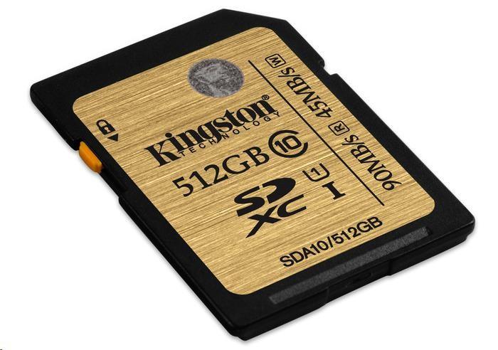 Kingston 512GB SecureDigital (SDXC) UHS-I Ultimate Memory Card (Class 10)