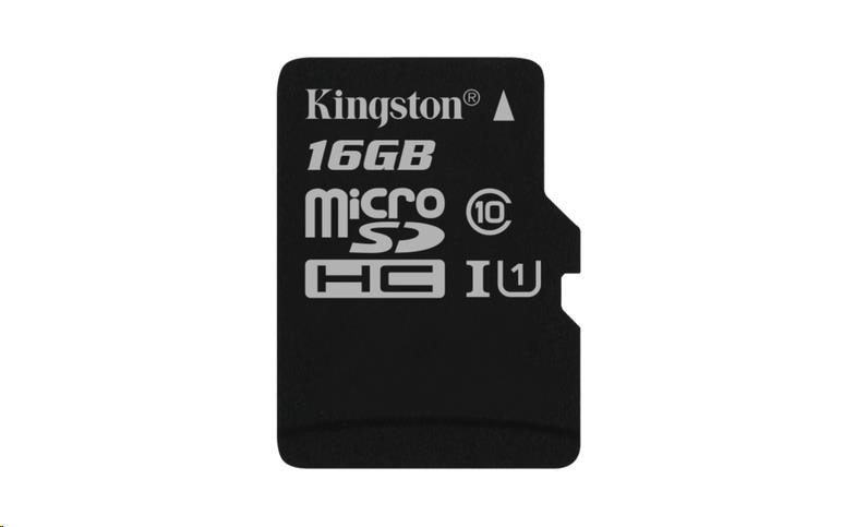 Kingston 16GB Micro SecureDigital (SDHC UHS-I) Card, Class 10