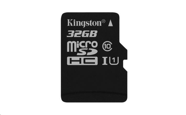 Kingston 32GB Micro SecureDigital (SDHC UHS-I) Card, Class 10, bez adaptéru