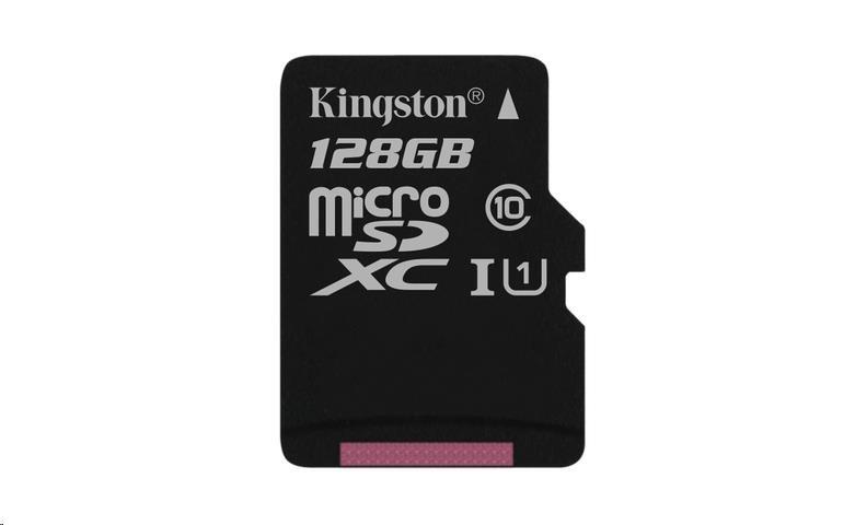 Kingston 128GB Micro SecureDigital (SDXC UHS-I) Card, Class 10