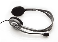 Logitech sluchátka s mikrofonem Stereo Headset H110