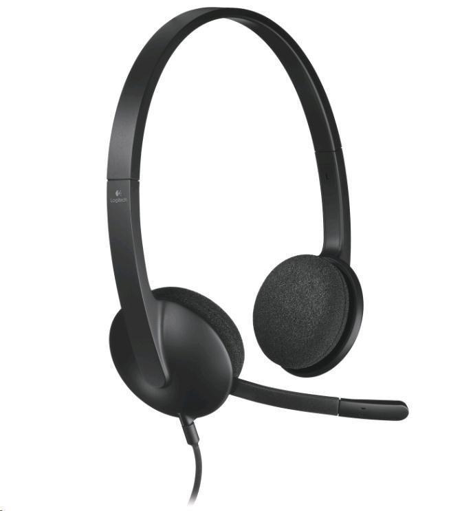 Logitech sluchátka s mikrofonem Headset H340, USB