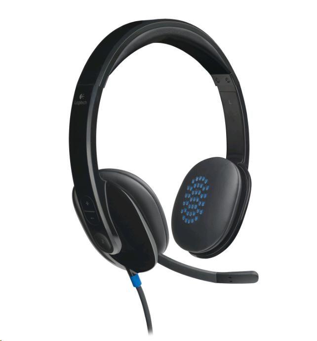 Logitech sluchátka s mikrofonem Headset H540, USB