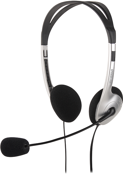 SPEED LINK sluchátka s mikrofonem SL-8720-SV MAIA Stereo Headset, black-silver