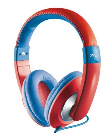 TRUST Sluchátka Sonin Kids Headphone, červené (pro děti)