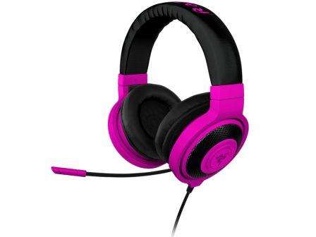 RAZER sluchátka s mikrofonem KRAKEN PRO Neon Purple Analog Gaming Headset, fialová