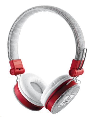 TRUST Sluchátka Fyber Headphone - grey/red
