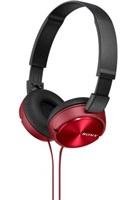 SONY stereo sluchátka MDR-ZX310AP, červená