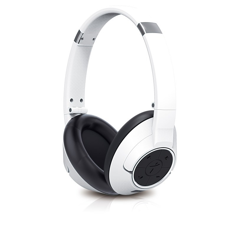 GENIUS sluchátka s mikrofonem HS-930BT, / Bluetooth 4.0/ dobíjecí/ bílá