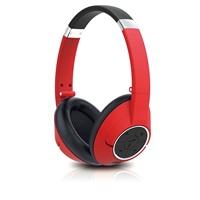 GENIUS sluchátka s mikrofonem HS-930BT, / Bluetooth 4.0/ dobíjecí/ červená